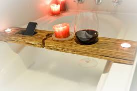 Wine Glass Holder For Bathtub Bathtub Tray Bathtub Tray Rustic Bathtub Caddy Tub Tray Wood Tub