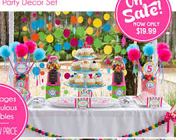 candyland party supplies candyland etsy
