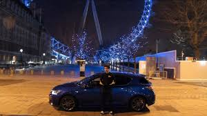 lexus ct200 turbo car throttle lexus ct200h f sport at night in london youtube
