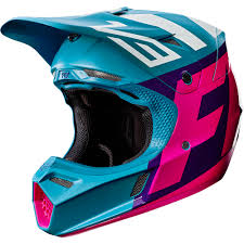 youth xs motocross helmet fox racing 2017 mx new v3 creo teal purple premium mips
