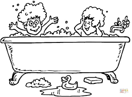 bath rubber ducks coloring free printable coloring pages
