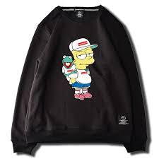 bart sweater east level x supreme x bart x kermit sweater biggy s