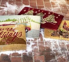 Holiday Doormat Christmas Tree Doormat Pottery Barn