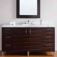 Modern Bathroom Vanity Sink by Abstron 60 Inch Macassar Ebony Finish Single Sink Modern Bathroom