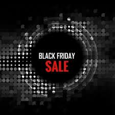 best blurry black friday deals black friday background with circle made in halftone vector free