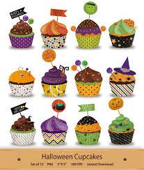 halloween clip art halloween cupcakes clipart png digital