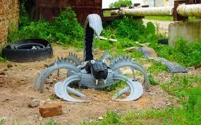 Craft Ideas For Garden Decorations - tire recycling ideas 23 animal shaped garden decorations