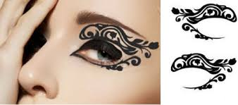 1 pair of temporary for eyelids black color