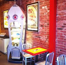 rocket donuts downtown bellingham washington quirky interior of