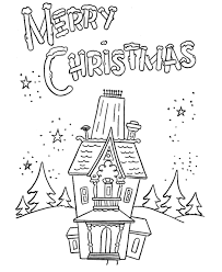 merry christmas color pages kids coloring
