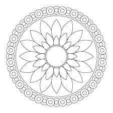 Free Printable Flower Mandala Coloring Pages 35 With Additional Mandala Flowers Coloring Pages