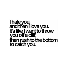 Love Hate Meme - i hate you and then i love you