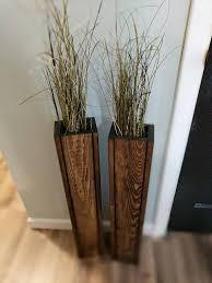 sale set of 2 24 rustic floor vases wooden vases home