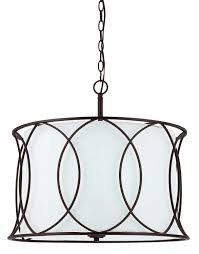 Chandelier With White Shade Canarm Ich320a03orb20 Monica 3 Light Chandelier Oil Rubbed Bronze