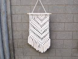 Unique Home Decor by Unique Wall Decor Unique Home Decor Asymmetrical Macrame Wall