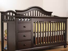 oak baby crib with changing table combine furniture with baby