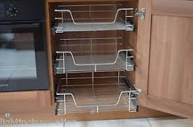 kitchen cabinets baskets pull out wire baskets kitchen cabinet larder cupboards 300 400 500
