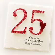 happy anniversary cards 25th anniversary custom card personalised wedding silver husband