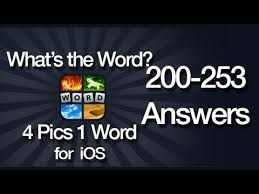 what u0027s the word 4 pics 1 word answers for ios 200 253 youtube