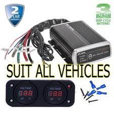 projecta idc25 dc to dc mppt solar 4x4 4wd agm dual battery system