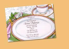 Tea Party Invitation Card Foliage Afternoon Tea Party Invitation Card Design Idea Momecard