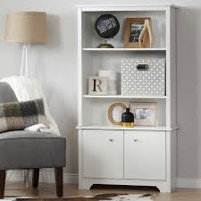 Bookcase With Doors And Drawers South Shore Vito 3 Shelf Bookcase With Doors Free Shipping Today