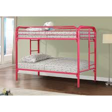 Wood And Metal Bunk Beds Donco Wood And Metal Bunk In Cherry And Black