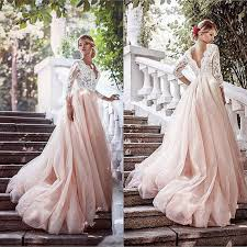 lace wedding gown pink wedding dress tulle wedding dress sleeves wedding gown