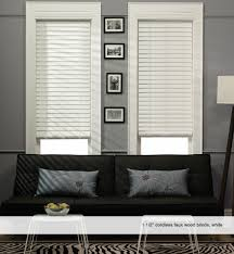 Home Decorators Collection Premium Faux Wood Blinds 1 Inch White Wood Blinds Business For Curtains Decoration