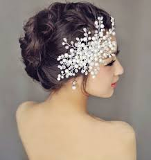 hair crystals snowflake beaded crystals bridal hair comb white hair