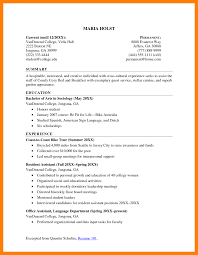 Free Basic Resume Examples by 6 College Students Resume Resumes Great