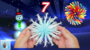 how to reuse drinking straws and make snowflakes 7 art and craft