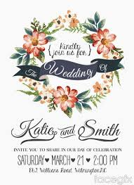 Wedding Invitation Cards Download Free Free Download Watercolor Floral Wedding Invitation Card Vector
