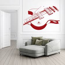 electric guitar print musical notes instruments wall stickers electric guitar print musical notes instruments wall stickers music art decals