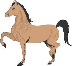 free printable cartoon horse coloring page for kids 2 clip art