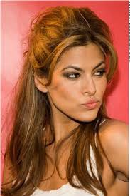 hairstyles that have long whisps in back and short in the front for this hairstyle eva mendes has her hair long and thick the