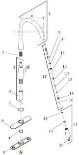 kohler kitchen faucet parts diagram kohler k 596 parts list and diagram ereplacementparts com
