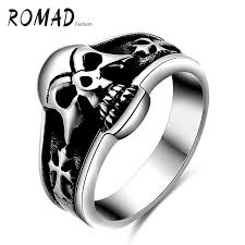 aliexpress buy 2017 wedding band for men 316l aliexpress buy retro 2017 mens walking evil skull rings for
