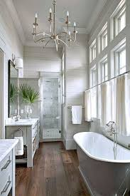 timeless gray master bathroom ideas with wood slat walls and