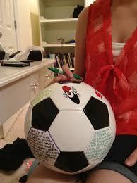 my idea for my boyfriends birthday who plays soccer i cut a
