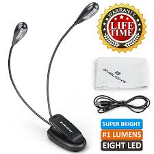 clip on reading light for bed byb e 416 multipurpose gooseneck 8 led reading light clip on book