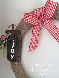 burlap christmas wreath easy burlap christmas wreath