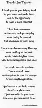 best 25 thank you poems for teachers ideas on