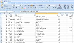 Excel Membership Database Template Categorizing My Vinyl Collection Onto An Excel Spreadsheet