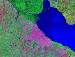 Images Of World Map by World Cities Satellite Images Landsat By Geology Com