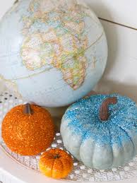 glittered pumpkins hgtv