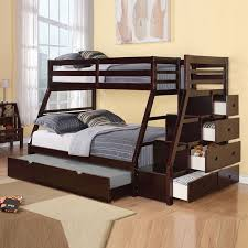 Wood Twin Loft Bed Plans by Twin Over Full Bunk Bed Black Wood Bedroom Decoration Twin Over