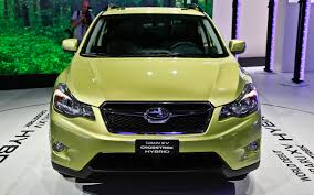 yellow subaru baja subaru confirms performance concept xv crosstrek hybrid for new
