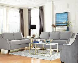 Sofa And Loveseat Sets Coaster Isabelle 508037 Traditional Grey Sofa And Loveseat Set