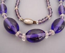 glass beads necklace images Czech purple glass beads necklace morning glory jewelry jpg